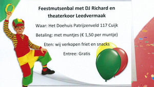 Carnaval feestmutsenbal