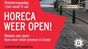 Horeca Grave opent weer haar deuren