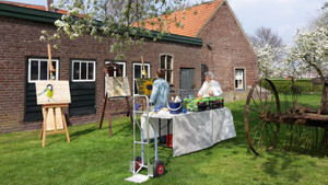 Workshop pallet schilderen