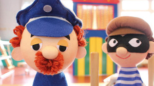 Poppenkastvoorstelling 'Jan Klaassen: circus clown Koo komt op bezoek