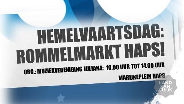 Rommelmarkt tijdens Hemelvaartsdag in Haps