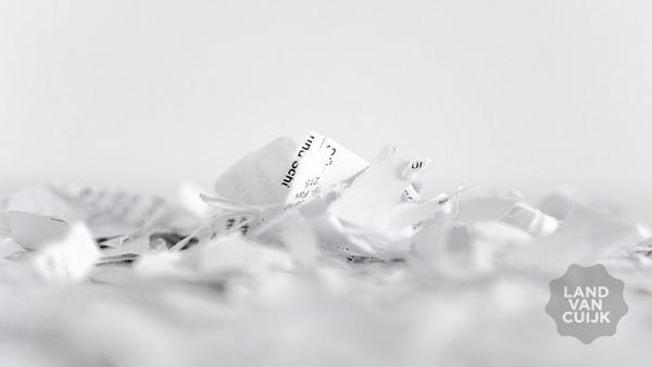 Papier scheppen bij Verdeliet
