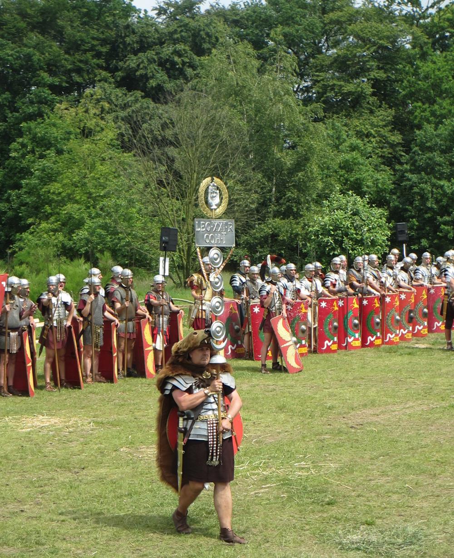 Fietsen over de Romeinse weg