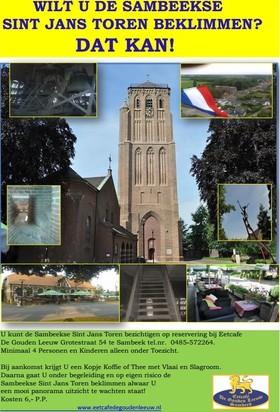 Eetcafé De Gouden Leeuw: De Sambeekse Sint Jans Toren beklimmen